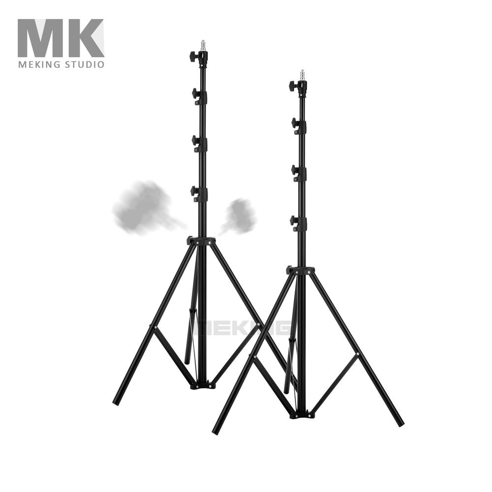 Meking Photo Studio Light stand 280cm/9'3 MK2.8 *2 L-2800 Air Cushion Lightstand support system jb300 pro premium grade light stand 2 8m stand with air cushion professional air cushioned light stand no00dc