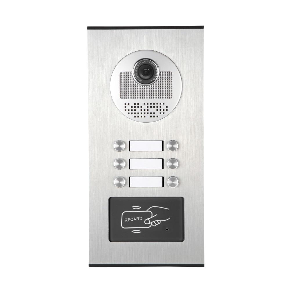 6 Units Video Intercom Outdoo Door Camera For  Apartment Video Door Phone Doorbell Support 6 Household