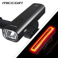 Bike German Standard Bicycle Front Light And 800mAH Rear Light USB Rechargeable Ultra bright Waterproof COB LED Flash MICCGIN