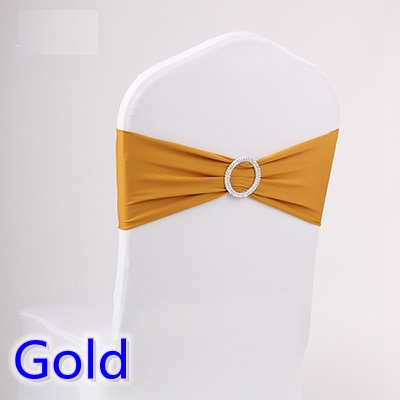 Gold Colour Spandex Chair Sashes Wedding Chair Sash With