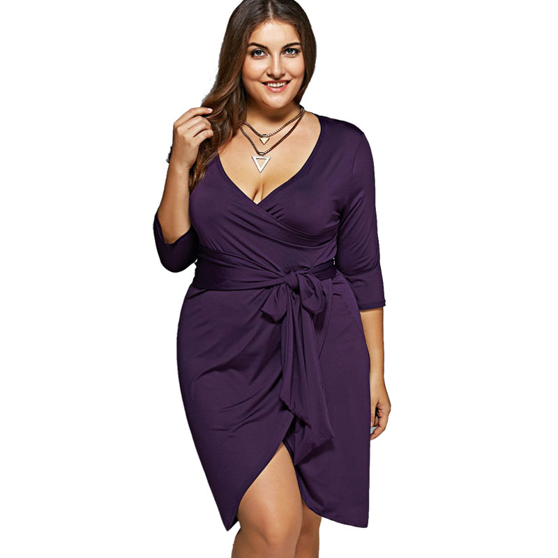 c200102137c ECOBROS Big size 6XL Woman dress 2018 Summer Loose Bodycon Bandage knee dresses  Fat MM plus size women clothing 6xl dress -in Dresses from Women s Clothing  ...