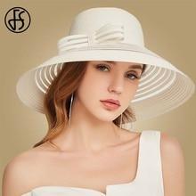 FS 2019 Women Straw Hat With Big Bow White Black Wide Brim Floppy Foldable Beach Hats Female Ladies Spring Summer Visor Sun Caps цена 2017
