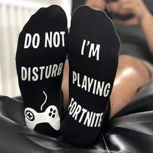 2Pair/set Men Women Socks 'Do Not Disturb, I'm Playing' Funny Ankle Socks Great Gamer Gift for games Lovers
