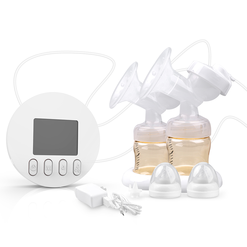 GL FDA Electric Double Breastpump, large screen display, more intuitive, BPA free, suitable for baby feeding