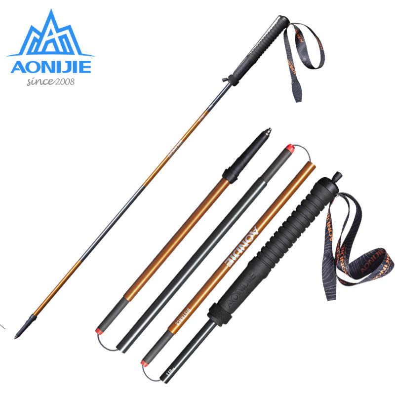 AONIJIE E4102 M-Pole Pieghevole Ultralight Quick Lock Bastoncini Da Trekking Polo Escursioni Gara Corsa e Jogging Bastone Da Passeggio In Fibra di Carbonio