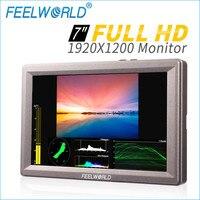 Feelworld 7 Inch Aluminum Design IPS 1920x1200 Full HD HDMI 3G SDI On camera Monitor with Waveform Vector Scope Histogram G70