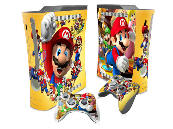 High Quality Cartoon Stickers Cover For Microsoft XBOX 360 fat Decals Console and 2 Games Free Controller Skins – stickerbomb
