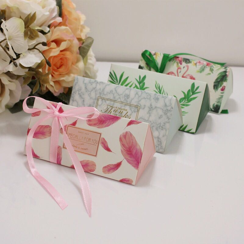 Emerra 50 Pcs Sen European Pink Candy Box Wedding  Creative Bag