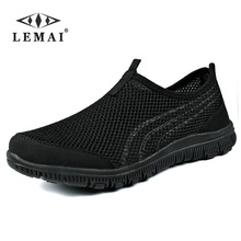 LEMAI 2018 Men Sneakers,Unisex Lover Shoes Summer Casual Men Shoe Breathable Network Shoes man Slip On Flats For Man 35-46(China)