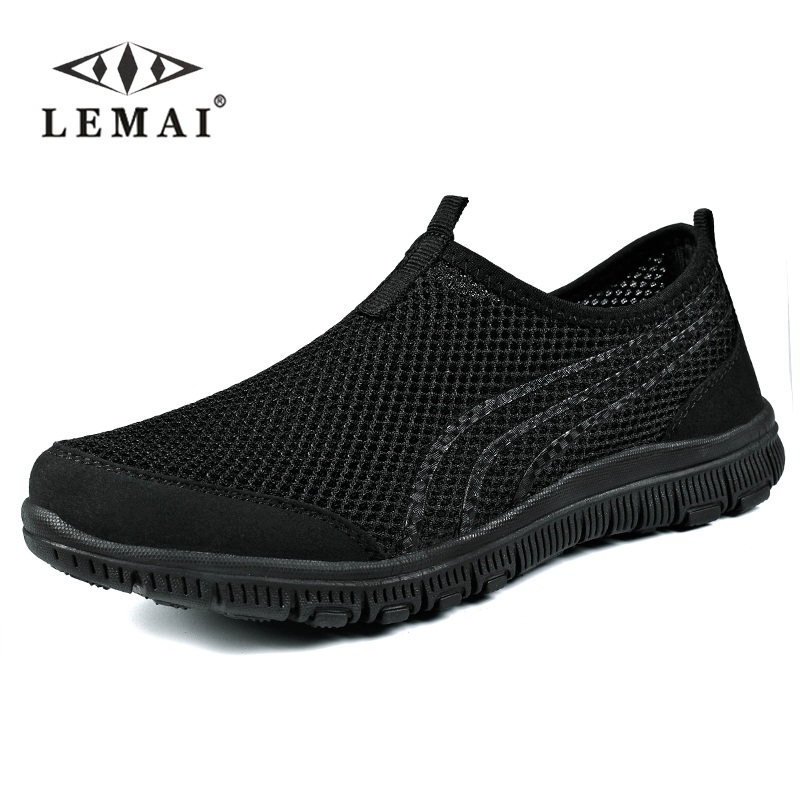 Lemai Men Sneakers,unisex Lover Shoes Summer Casual Men Shoe Breathable Network Shoes Man Slip On Flats For Man 35-46