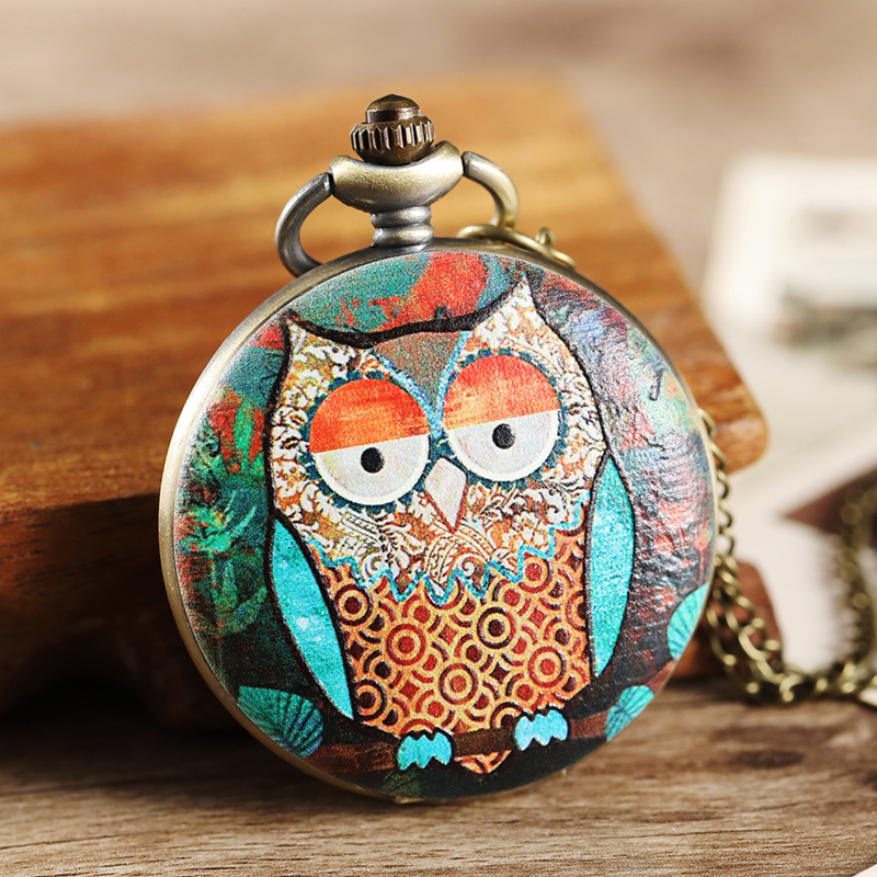 9 Design Owl Pocket Watch Fob Chain Necklace Pendant Mens Flip Case Watch Hour Clock for Men Women Lady reloj de bolsillo hombre rocada forum page 7
