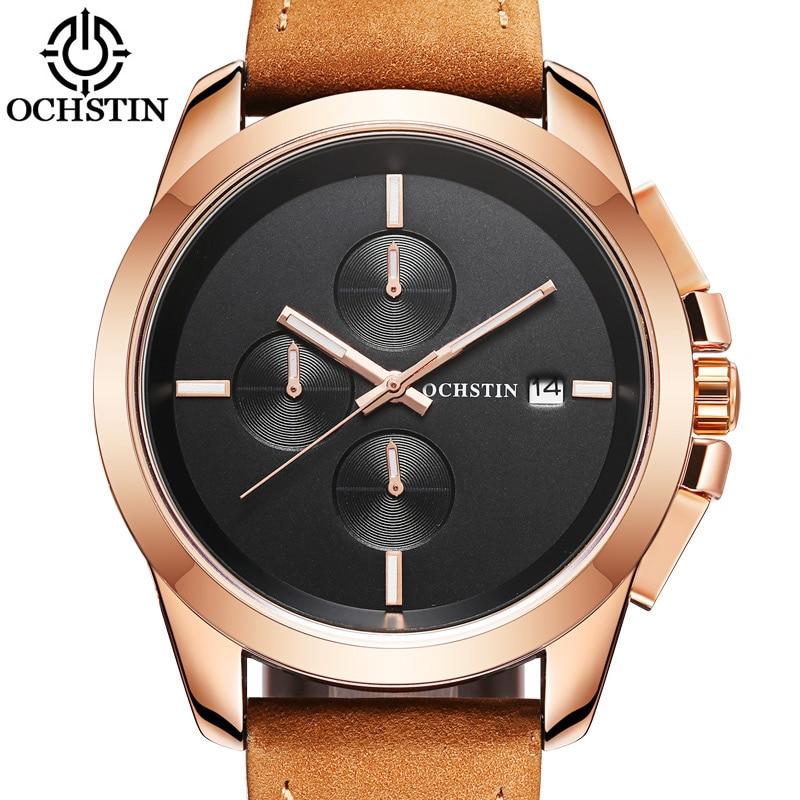 OCHSTIN Chronograph Sport Clock Top Brand Luxury Men's Watch Men Male Casual Quartz Wrist Watches Military Business Clocks 059A  недорого