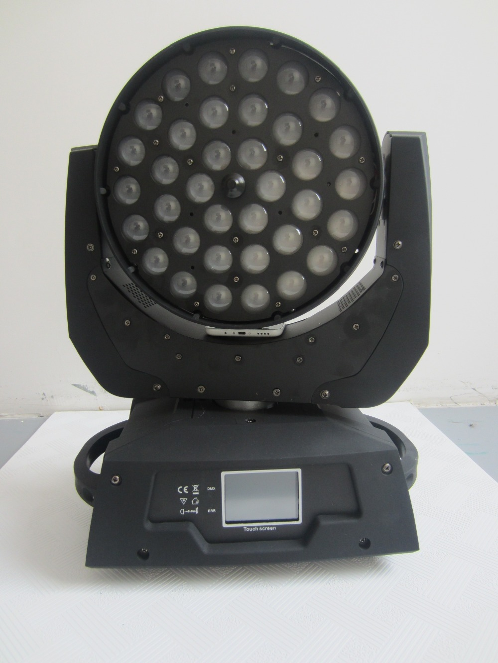 Guangzhou led light 36*18W 6 in 1 RGBWY UV led moving head zoom wash stage light touch screen for dj lights