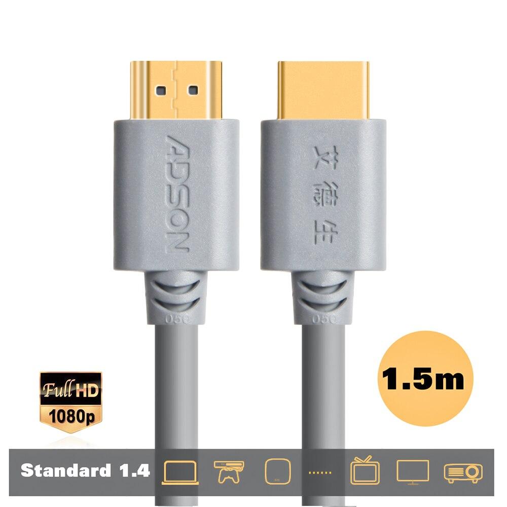 Cavo HDMI Ad Alta Velocità di Sostegno HD4K V1.3 V1.4 V2.0 HDMI Con Maschio a Maschio 3D per il Monitor Del Computer TV PS 3/4 Proiettore HDTV 1.5 m