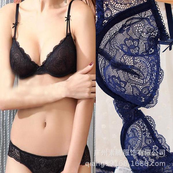 2015 sexy lace Bordado sutiã Ultra-fino breve conjunto íntimos, o estilo da moda conjuntos de sutiã com lingerie calcinha transparente BS273