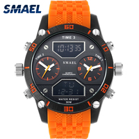 Three Time Display Movement Big Men Watches Fashion 30M Waterproof Alloy Sport Watch Casual Big Watch