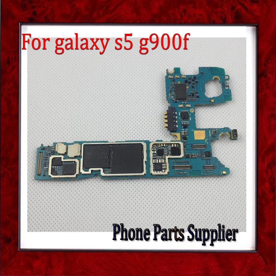 imágenes para Placas Lógicas Para Samsung Galaxy S5 G900F Placa Base completa con Patatas Fritas, abierto Original para Galaxy S5 G900F Placa Base