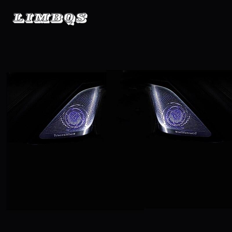Haut-parleur de porte latérale pour BMW g30 g38 série 5 tweeters à dôme diamant synchronisés avec la lumière ambiante haut-parleur de voiture LED tweeter