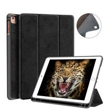 Чехол для нового iPad 9,7 дюйма чехол с карандашом-держателем Умный Магнитный ТПУ силиконовый чехол для iPad 5-го 6-го поколения Funda