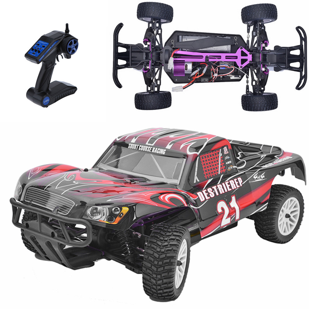 HSP Rc Car 1/10 Electric Power Remote Control Car 94170 4wd Off Road  Rally Short Course Truck RTR Remote Control Toys 02023 clutch bell double gears 19t 24t for rc hsp 1 10th 4wd on road off road car truck silver