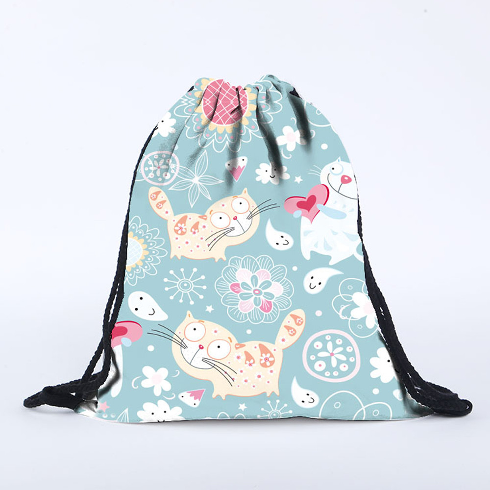 Giraffe-animal-funny-facial-expression Funny Gym Drawstring Bags Travel Backpack Tote School Rucksack