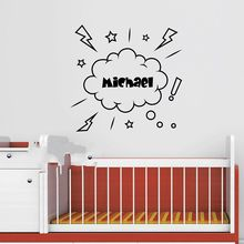 Cute Pirate Wall decal Personalized Name Decal Ship Vinyl Art Decor Childrens Stickers for Kids Room