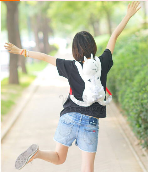 Wholesale 1pcs lot FuyuuNeko White Cat Cute Plush Doll Backpack Anime Bag 40cm