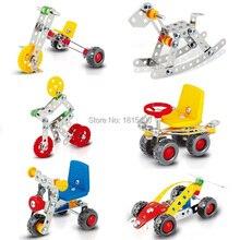 6 Set DIY Creative Assembling Toys For Kids Metal Builidng Blocks Bricks Kit Learning Education Boys