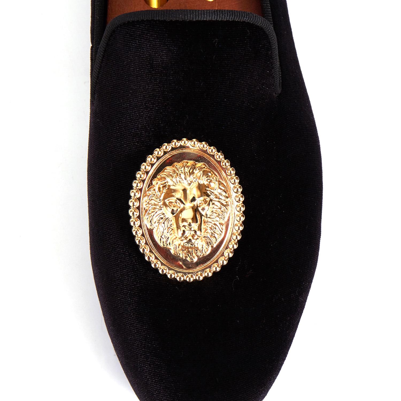 Vestido Zapatillas Planos Tamaño Príncipe Zapatos azul Albert rojo Animal 14 Hebilla verde Negro Mocasines Negro Harpelunde Hombres Terciopelo 6 SCqBwW7PI5