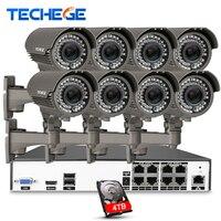 8CH 5MP 48V Real PoE NVR W 8pcs 2 8 12mm Zoom Lens 4 0MP IP