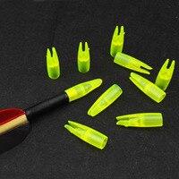 50 Stücke bogenschießen pfeilnocken für 8mm pfeilschaft Gelbe Farbe Bogenschießen holz pfeil nocke Bambus Außerhalb pfeilnocken 8mm ArrowNocks