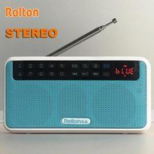 Rolton E500 Hifi Stereo Bluetooth Loa Di Động Âm Thanh Siêu Bass Hộp Cột MP3 Nghe Nhạc Cho Máy Tính Với Đài Phát Thanh TF thẻ