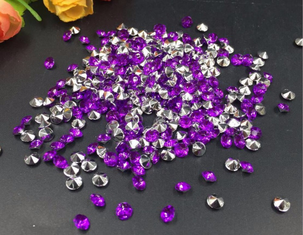 10000pcs 4mm Purple Acrylic Rhinestone Confetti Wedding Party Favor Table Scatters Crystal Decoration