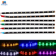 30-100 Pcs 30 Cm Auto LED Lampu Strip Fleksibel 5050 12 LED Siang Hari Berjalan Lampu Mobil LED Strip lampu 12V IP65 Tahan Air DRL(China)
