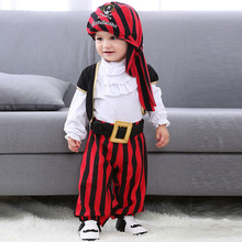 Halloween Christmas Cosplay costume carnaval pirate captain jumpsuit baby rompers dress up party cosplay for kids