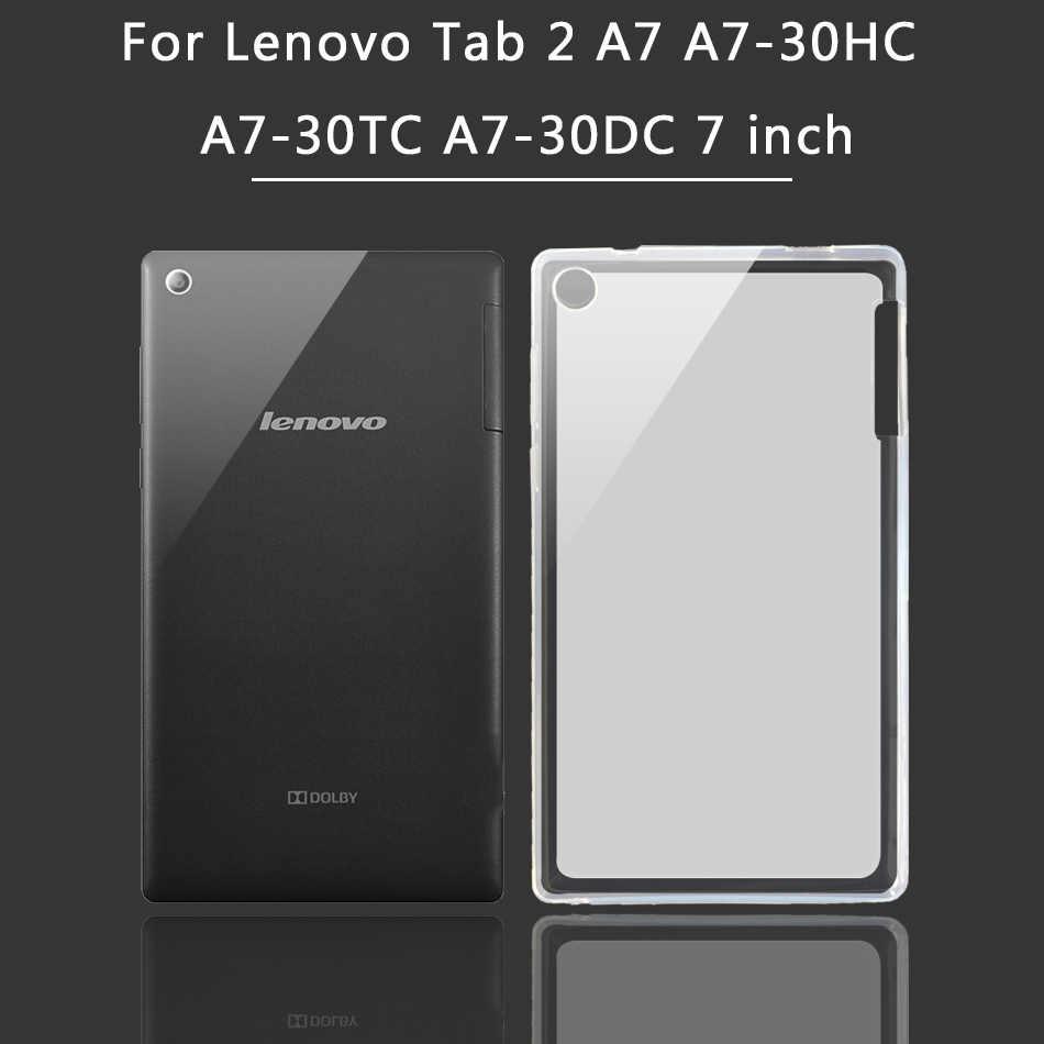 Klasik silikon kılıf için Lenovo Tab 2 A7-30HC A7-30TC A7-30DC/Tab2 A7 A10 A7-10F/20F A10-70F/70L tablet kapak tab 10 TB-X103F