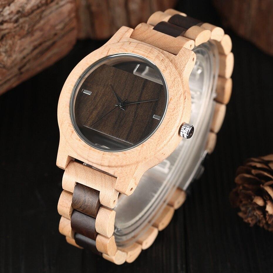 Top Luxury Full Bamboo Wood Quartz Watch Mens Hollow Analog Handmade Bracelet Sports Wristwatch Male Simple reloj de hombre 2017 2018 Gifts (32)