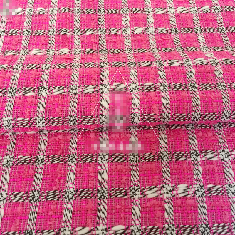 100x145 Cm Rosa Di Lana Mescolato Poliestere Tweed Tessuto Per Donna Autunno Inverno Cappotto Vestito Bazin Riche Getzner Tela Da Cucire Eppure Non Volgare