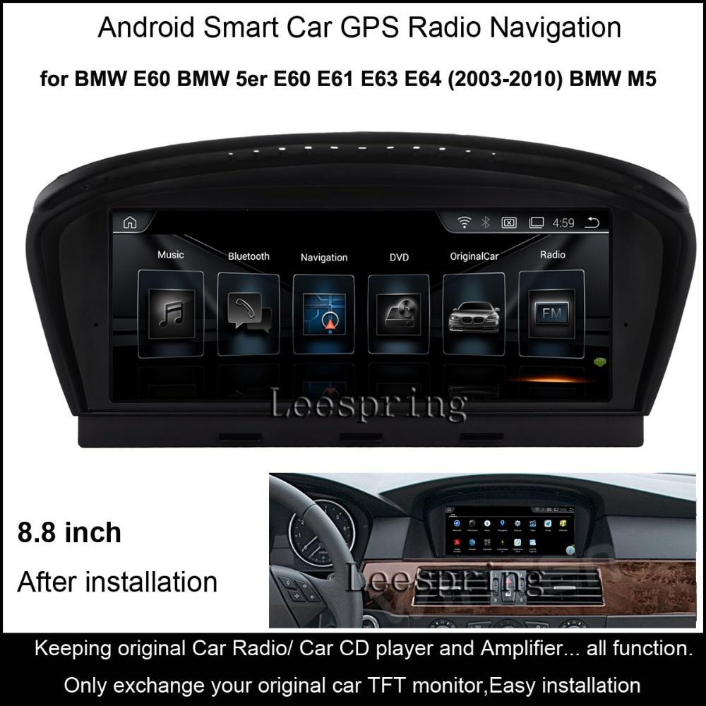 8.8&#8243;Android 4.4 Intelligent Car multimedia Player for BMW 5 series <font><b>E60</b></font> E61 E63 E64(2003-2010) BMW M5 GPS Navigation WiFi
