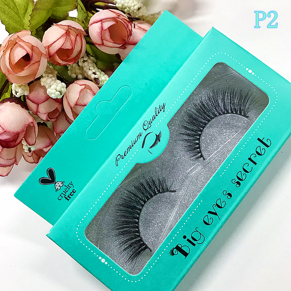 BigEyes Secret 10Pairs Mink Pairs Strips 3D Mink Eyelashes Extensions False Mink Individual Lashes Custom packaging