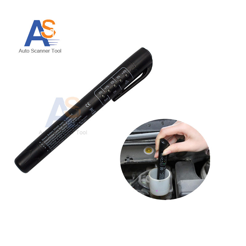 De alta Calidad de Diagnóstico herramienta de Detección Mini Electronic Brake Fluid Tester Digital Pen 5 Led Automotriz Herramienta de Prueba