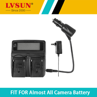 LVSUN DC&Car Universal Battery Charger for LI 10B LI 10B LI10B Battery for Olympus C 50 C 60 C 70 C 470 C 5000 C 7000 D 590