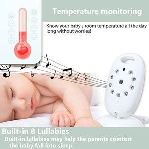 Image 3 - Babyphone vidéo sans fil, avec caméra de sécurité, vision nocturne, audio, 2 voies, moniteur de température, avec 8 berceuses