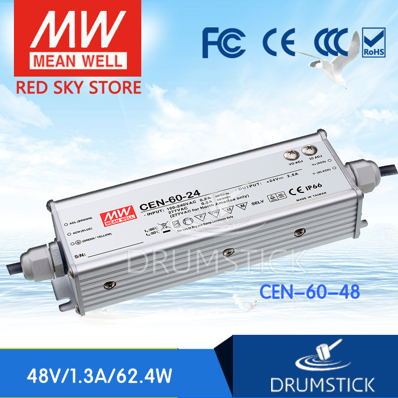 цена на Hot! MEAN WELL CEN-60-48 48V 1.25A meanwell CEN-60 48V 60W Single Output LED Power Supply