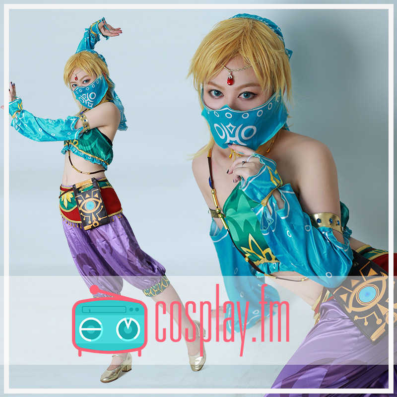 Us 115 59 11 Off Anime The Legend Of Zelda Breath Of The Wild Link Desert Women S Dancing Dress Sexy Uniform Cosplay Costume Free Shipping On