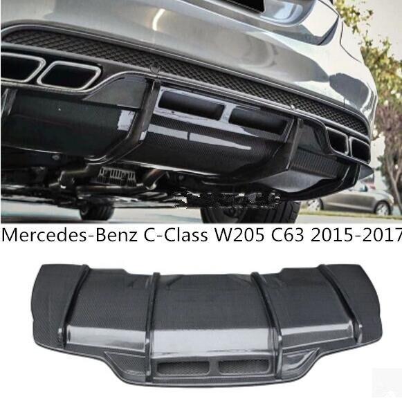 Couvercle de diffuseur arrière automatique de lèvre de pare-chocs arrière de voiture de Fiber de carbone de PSM pour mercedes-benz c-class W205 C63 2015 2016 2017