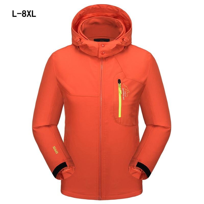 2018 Primavera Autunno Cappotti Per Gli Uomini Jaqueta Giacca A Vento Degli Uomini Di Grandi Dimensioni Di Moda Maschile Turismo Giacche Sportswear Impermeabile