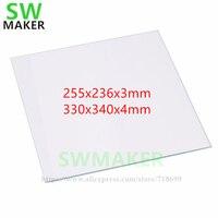 SWMAKER N SÉRIE de PEÇAS de REPOSIÇÃO VIDRO BOROSILICATO CONSTRUIR PLACA 255x236mm 330x340mm para Levantar 3D N2 N1 e N2 plus impressora