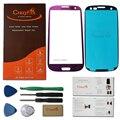 Высокое качество фиолетовый фиолетовый замена объектива стекло для Samsung Galaxy SIII S3 I9300 дуэта I747 L710 T999 I535 + инструменты + клей