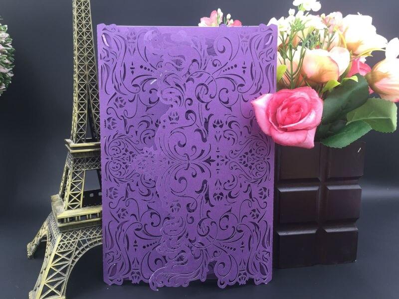 Unique Design Laser Cut Pure White Arabic Wedding Invitation Cards